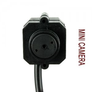 Micro Wired Pinhole Color Audio Spy Camera AC Adapter